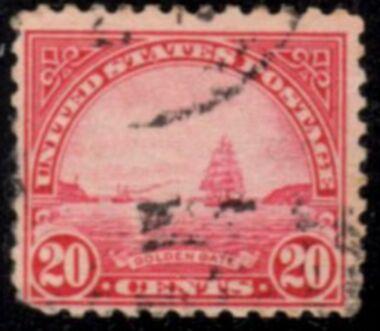 US Stamp # 567 – Golden Gate – 1922-25 Regular Issue