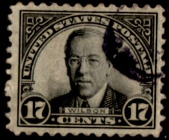 US Stamp # 623 – Woodrow Wilson – 1922-25 Regular Issue