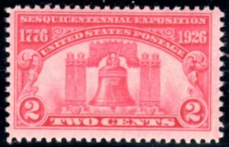 US Stamp # 627 MNH – Sesquicentennial Expo – Liberty Bell