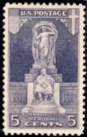 US Stamp # 628 MNH – John Ericsson Memorial