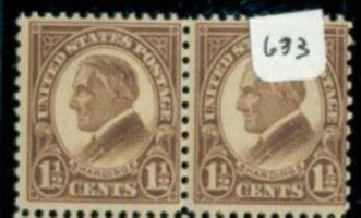 US Stamp # 633 MNH – Warren G. Harding – 1926-34 Regular Issue Pair