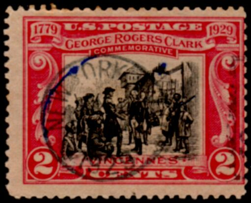 US Stamp # 651 – George Rogers Clark Issue