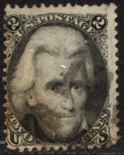US Stamp #  73 – Andrew Jackson – National Bank Note Issue