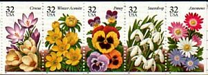 US Stamp #3029a MNH – Garden Flowers Booklet Pane