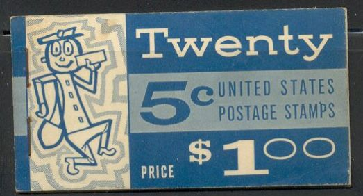 US Stamp #BK115 MNH Unexploded Booklet w/4 #1213a Panes Slogan 3