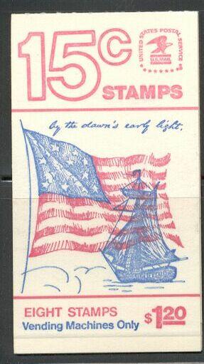 US Stamp #BK130 MNH Unexploded Bklt w/ 1 #1598a