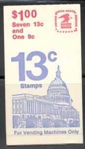 US Stamp #BK131 MNH – Booklet with Se-Tenant Pane of 7 and 1