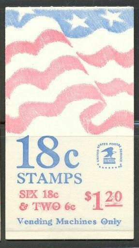 US Stamp #BK138 MNH – Booklet w/ Se-Tenant Pane of 6 and 2