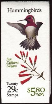 US Stamp #BK201 MNH – Humming Birds – w/4 #2646a Panes