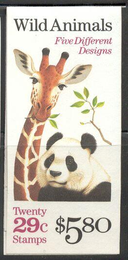 US Stamp #BK202 MNH Wild Animals Booklet w/4 #2709a Panes