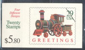 US Stamp #BK203 MNH Christmas Toys Booklet w/5 #2718a Panes