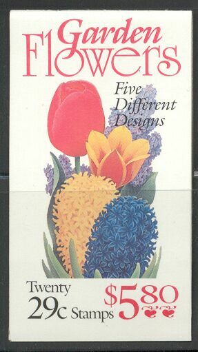 US Stamp #BK208 MNH Flowers Booklet w/4 #2764a Panes