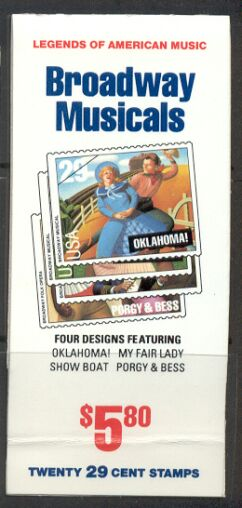 US Stamp #BK209 MNH Broadway Musicals Booklet w/5 #2770a Panes