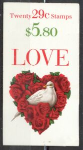 US Stamp #BK214 MNH LOVE Booklet w/2 #2814a Panes