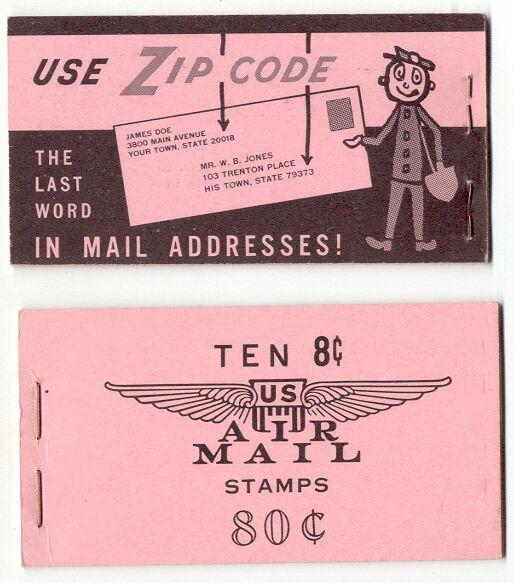 US Stamp #BKC11 MNH – Airliner Over Capitol Booklet