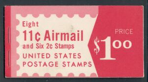 US Stamp #BKC22 MNH – Airliner Silhouette Booklet