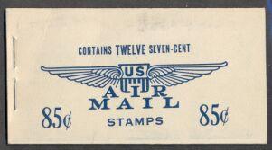 US Stamp #BKC 6 – Blue 7c Jet Silhouette