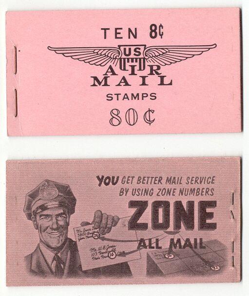 US Stamp #BKC 9 MNH – Airliner Over Capitol Booklet