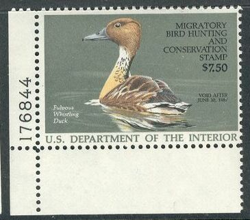 US Scott #RW53 MNH Fulvous Whistling Duck Plate Number Single