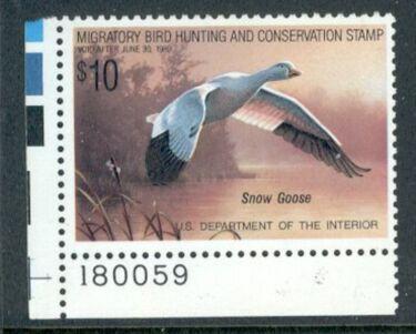 US Scott #RW55 MNH – SUPER Snow Goose Plate Number Single